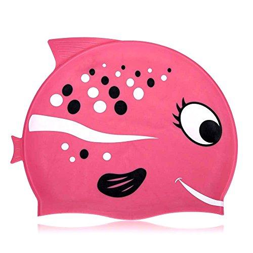 Cuffia da nuoto Fun design cuffia da nuoto in silicone per bambini – Cartoon modello (Standard, Pink2)