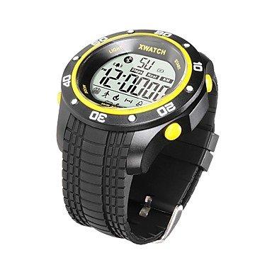 LIANHUAJIEDAO Lemumu Smart Watch Intelligente drücken Sie 2 Jahre Standby Gesundheitsmanagement Bluetooth 4.0 Tiefe wasserdicht, Schwarz