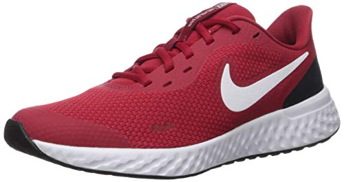 Nike Unisex-Kid's Revolution 5 Grade School Running Shoe, Gym Red/Whiteblack, 7Y Regular US Big Kid