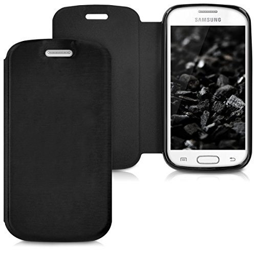 kwmobile Custodia protettiva compatibile con Samsung Galaxy Trend lite - Flip Cover a portafoglio pratica e chic - nero