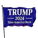 Trump 2024 Take America Back Flag 3x5 Ft-Anti Biden Trump 2024 Outdoor Indoor Decoration