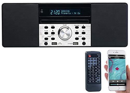 VR-Radio DAB Radio Bluetooth: Digitalradio mit DAB+, FM, Bluetooth, CD, Audio-Player, USB-Port, 60 W (Radio mit und USB, Bluetooth)