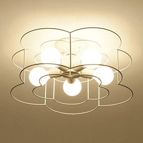 YUQIYU Luces pendientes, Simples Habitación moderna Luz pendiente colgante Led estilo europeo de luz ambiental niños cenar Colgante accesorio de la lámpara E27 * 5 (Color : White)