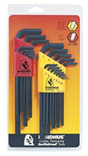 Bondhus 22199 Double Pack Hex Long Length L-Wrench Set  $12 at Amazon