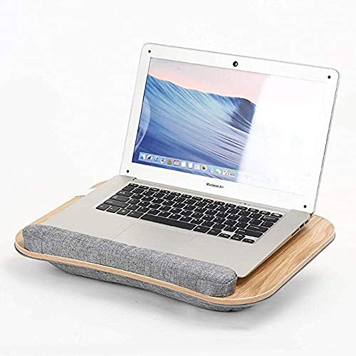 Keyboards Eco Lap Desk For Laptop, Portable Sturdy Stable Cooler Work Surface With Handle/Wrist Rest, Bamboo Lap Writing Board & Drawing Desk,for Bed Sofa Couch Travel-B