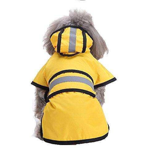 Goosuny Hund Regenmantel Mit Kapuze Poncho Regenjacke Wasserdicht Regenjacke Outdoor Regenponcho Für Kleine Mittelgroßen Großen Hunde