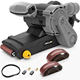 Jellas Belt Sanders, 1000W Electric Sander, 6 Variable Speed ??Controls with Self-Locking Switch, 12 Piece Sanding Paper (75x533mm), 3M Length Power Cord