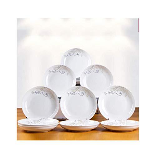 platos llanos Cena placas plato plato plato cerámica creativo conjunto combinación vajilla de vajilla de fruta estilo europeo lindo albóndigor plato plato aperitivo postre snack plato cocina p