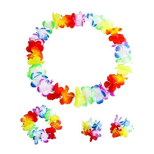 US Warehouse - Wreaths & Garlands - A Set Counts Tropical Hawaiian Luau Flower Lei Party Favors - (Color: Multicolor)