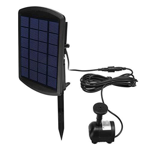 YHtech Panel de la Bomba eléctrica Sumergible 6V 1.8W Aire Libre accionado Solar de la Bomba de la Fuente de Agua for la Piscina de la charca de la válvula Jardín