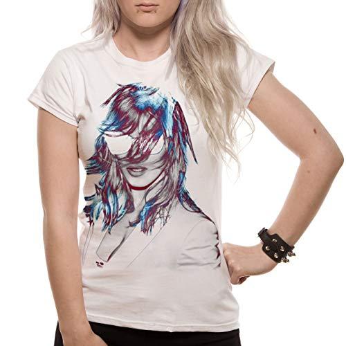 Loud Distribution Madonna - MDNA - Camiseta para Mujer, Color Blanco, Talla X-Large