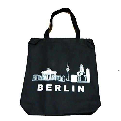 Berlin Jutebeutel Hipster Tasche Stofftasche Souvenir Andenken schwarz Jutesack Jusäckchen Beutel Kinder Apothekertasche