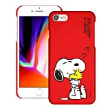 Compatible with iPhone SE 2020 / iPhone 8 / iPhone 7 Case (4.7inch) [Slim Fit] Peanuts Thin Hard Matte Surface Excellent Grip Cover - Smile Snoopy