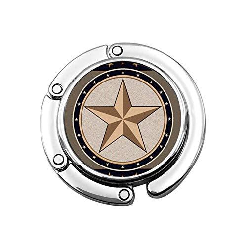 Gancho para Monedero Estrellas Círculo Soporte para Monedero Plegable Bolso para suspensión...