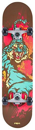 AREA Unisex Jugend Skateboard Tight Tiger, Mehrfarbig, 31,6
