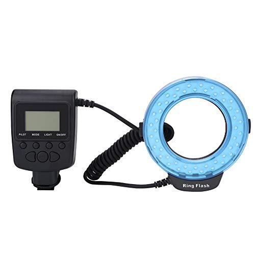 143 Flash ad Anello, 48 Macro Flash LED ad Anello con diffusori Flash, Anelli adattatori per Canon Nikon Fuji Pentax Olympus e Altre Fotocamere DSLR