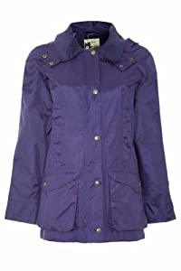 Ladies Champion Windlesham Country Estate Lightweight Waterproof Jacket Corduroy Collar. Concealed Storm Hood. Taped Seams Zip And Press Stud Placket, Multiple Side and Lower Pockets Plus Inside Pocket With Printed Fabric Lining Easy Care Wipe Clean ...