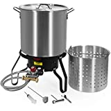 Barton All Purpose 52 QT Aluminum Turkey Fryer Steamer Burner Barbecues Fair Clam Bake Pot Large...
