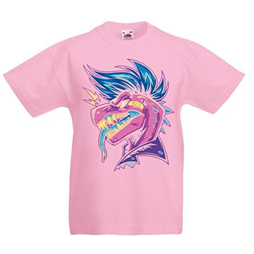 lepni.me T-Shirt pour Fille/garçon Punk Rock - Punk n'est Pas Mort, années 1960, 1970, années 80 (14-15 Years Rose Multicolore)