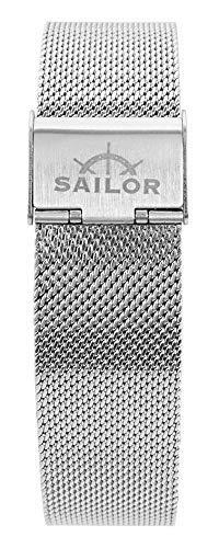 Sailor Damen Herren Edelstahl Armband Style Rosegold o. Silber BSL101-2019-20, Breite Armband:18mm (