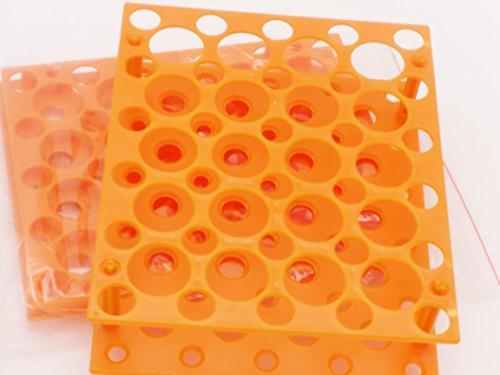(Two Packs) 50 Well Orange Centrifuge Tube Rack for 10ml/15ml/50ml