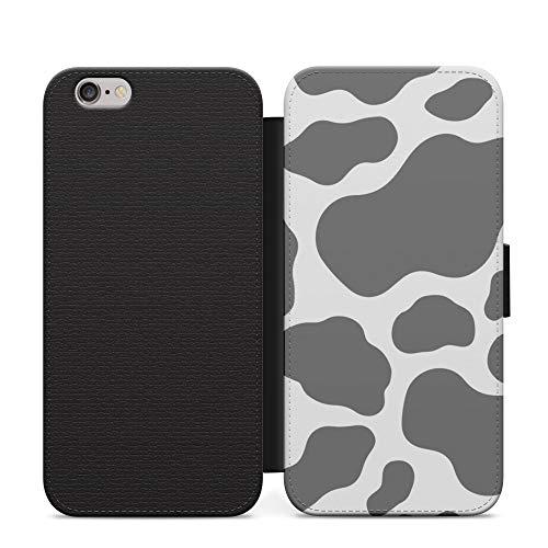 Gris negro vaca patrón fangoso multicolor teléfono caso cartera cubierta para iPhone 12 Pro Max