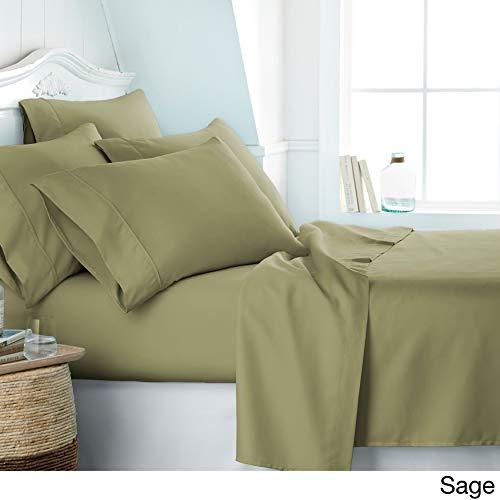 "Lord Leno Cotton Bed Sheet Set - Full XL Sheets - 18"" Deep Pocket - Hotel Luxury - 800 Thread Count - Sateen - Best Cotton Sheet - Egyptian Cotton - High Thread Count Luxury Sheet Set - Sage"