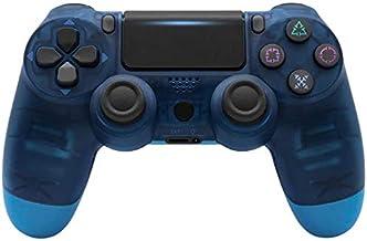 Petilleur PS4 Wireless Bluetooth Game Controller Ps4 Controller with Light bar (Transparent Blue)