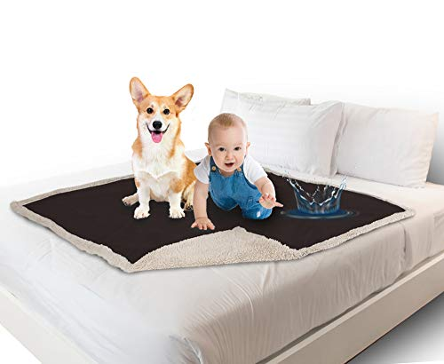 Catalonia 防水シーツ ベッド ソファー 防水毛布 ベビー 敷きパッド ペット 防水シート 犬 猫 おしっこマット 赤ちゃん 子供 おねしょシーツ おむつ替えシート 三層構造 丸洗い 150x120cm