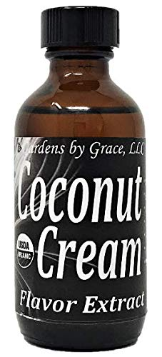 Organic Flavor Extract Coconut | Use in Gourmet Snacks Candy Beverages Baking Ice Cream Frosting Syrup and More | GMOFree Vegan GlutenFree 2 oz