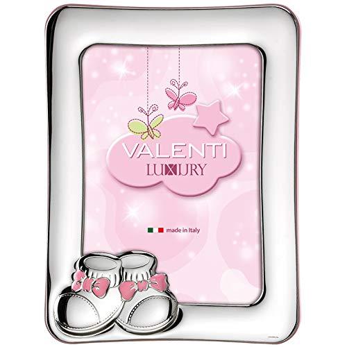 """Valenti&Co - Kinder-Bilderrahmen \""""Schuhe\"""", laminiert, aus Silber, Größe innen. 9 x 13 cm, Artikelnummer: 73104 3LRA"""