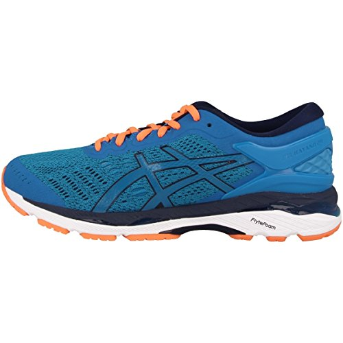 Asics Gel-Kayano 24, Zapatillas de Running Hombre, Azul (Directoire Blue/Peacoat/Hot Orange), 40 EU