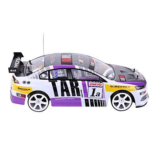 RC Drift Auto Spielzeug, 1 10 Vierräder Antrieb 4WD Fernbedienung Drift Auto RC Rennwagen Modell Spielzeug Fahrzeug(EIN-Batterie-Fach (40 km/h))