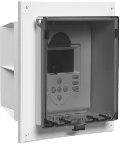 Arlington DBLVR2C-1 Weatherproof Outdoor Keypad and Alarm Enclosure for Flat Surfaces in Existing Construction, Clear, 1-Pack