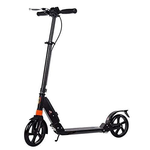JLWDD Scooter klappbar, City Roller Tretroller Höhenverstellbar, Cityroller Mit 2 Räder, Scooter Für Erwachsene Und Kinder, Scooter mit Bremse und Federung