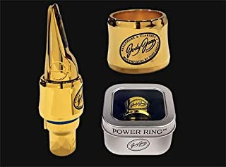 JodyJazz Power Ring DV Gold Baritone Saxophone Ligature