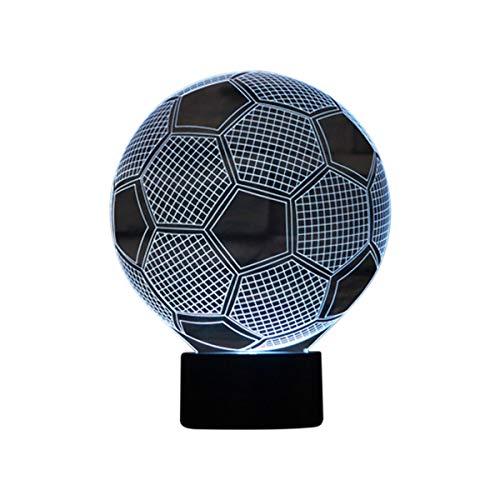 3D Optical Illusion Lampe LED Nachtlichter Fussball Modell, LSMY Touch Tischlampe Haus Dekoration 7 Farben Einzigartige Lichteffekte 1.5m USB Kabel zum Kinder Geschenk
