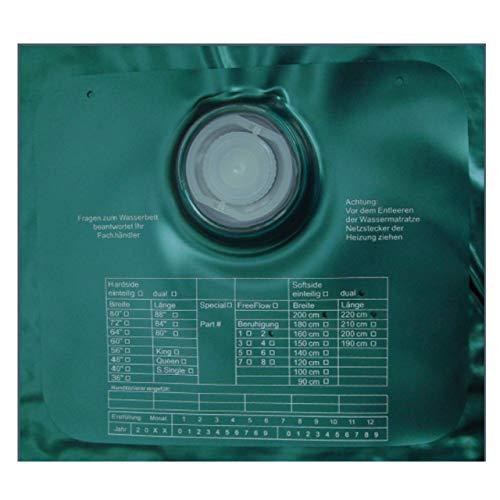 ABBCO Eezy Wassermatratze - Wasserkern Softside für Duales WB 200x220 cm F5 = Nachschwingzeit ca. 0-0,5 Sek