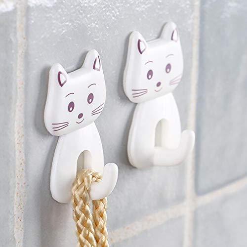Alexny Hook, cute cartoon cat door hook durable kitchen spoon debris hanger towel hook self-adhesive hook