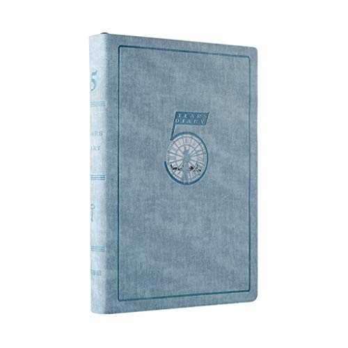 WPBOY Cuadernos Cita del Calendario, la pasión Planner Media Sin Fecha - orientado a Objetivos Agenda Diaria, Reflejo Journal-(8.3'x5.7) Plan de Libro-A5 Cuaderno de Moda (Color : 5 Years Sky Blue)