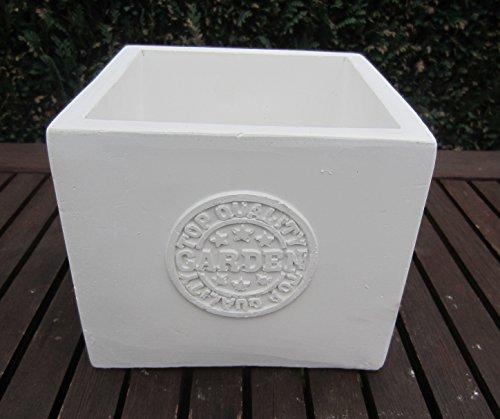 Pot de Vintage Garden blanc/gris 3 (16x16 cm)