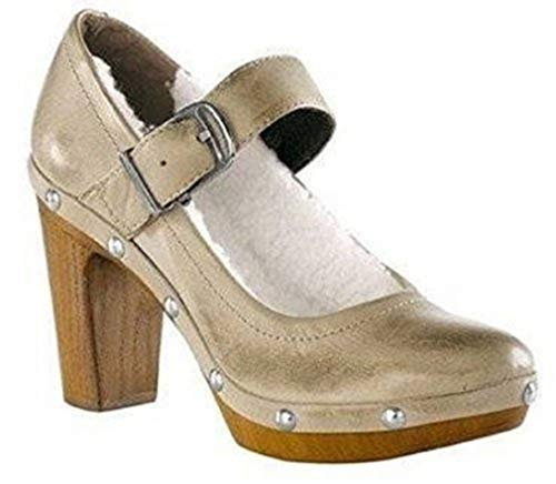 CHILLANY Pumps Winterpumps Leder - Farbe Taupe Gr. 41