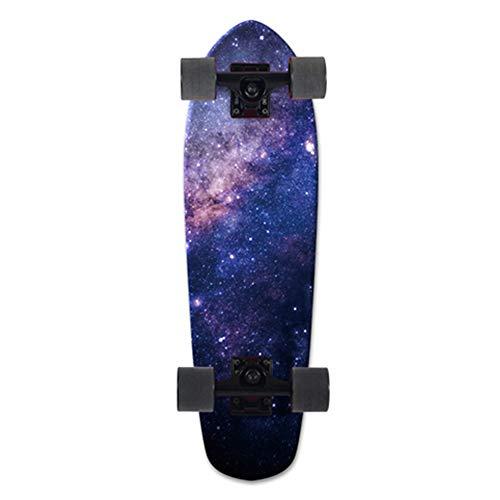 ROYWY Cruiser Midi-Board/Skateboard 69cm 7-lagigem kanadischem Ahornholz Skateboard, Vintage Mini Cruiser, Komplettboard, Mini-Board mit Holz Deck E