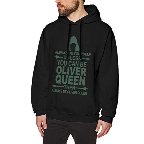 MYHL Men's Green Arrow Graphic Fashion Sport Hip Hop Hoodie Sweatshirt Pullover Tops