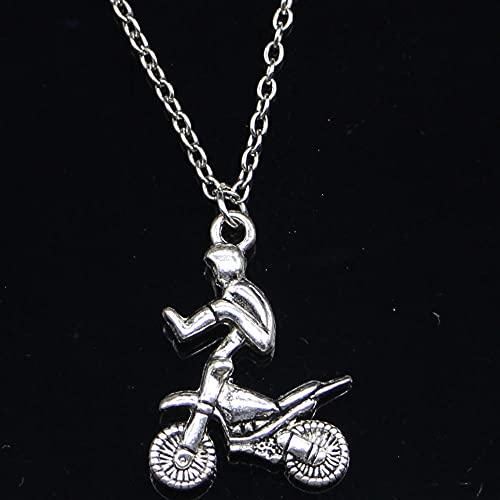 ZOJK Collar 29X23Mm Motocicleta Motocross Colgante Corto Largo Mujeres Hombres Colar Regalo Joyas Gargantilla