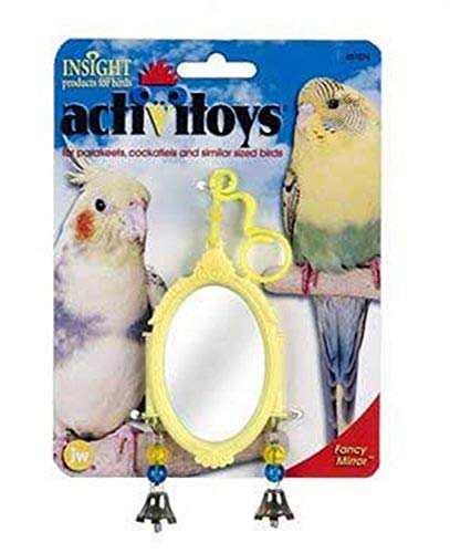 JW Pet Company Activitoy Fancy Mirror Small Bird Toy, Colors V