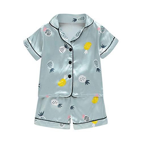 Sunnymi - Conjunto de pijama y camiseta de manga corta para bebé verde menta 12-18 Meses