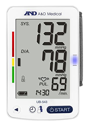 A&D Medical UB-543 Tensiómetro digital de muñeca, vali