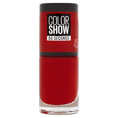 GEMEY MAYBELLINE Colorshow smalto per unghie 43 Red Apple
