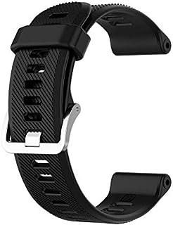 Ficocean Bracelets de Montres pour Garmin Forerunner 745, 22mm Silicone Watch Strap Libération Rapide Compatible avec Garm...